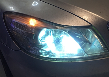 斯柯达车灯升级